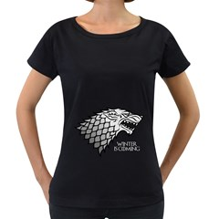 Winter is Coming ( Stark ) 2 Womens' Maternity T-shirt (Black)