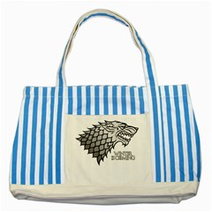 Winter is Coming ( Stark ) 2 Blue Striped Tote Bag