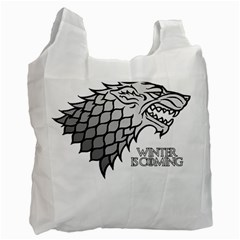 Winter is Coming ( Stark ) 2 Recycle Bag (One Side)