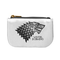 Winter is Coming ( Stark ) 2 Coin Change Purse