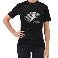 Winter is Coming ( Stark ) 2 Womens' T-shirt (Black)