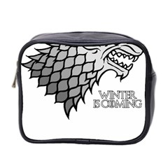 Winter is Coming ( Stark ) 2 Mini Travel Toiletry Bag (Two Sides)