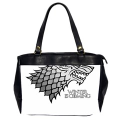 Winter is Coming ( Stark ) 2 Oversize Office Handbag (Two Sides)