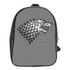 Winter is Coming ( Stark ) 2 School Bag (XL)