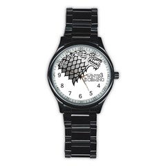 Winter is Coming ( Stark ) 2 Sport Metal Watch (Black)