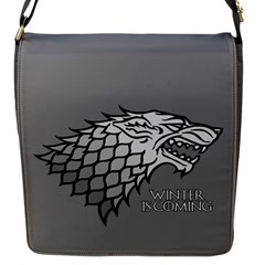 Winter Is Coming ( Stark ) 2 Flap Closure Messenger Bag (small)