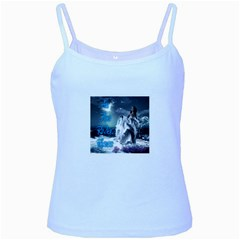 As The River Rises  Baby Blue Spaghetti Tank