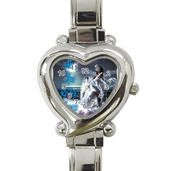 As The River Rises  Heart Italian Charm Watch