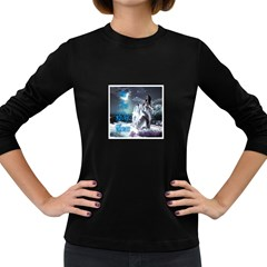 As The River Rises  Womens' Long Sleeve T-shirt (Dark Colored)