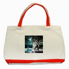 As The River Rises  Classic Tote Bag (Red)