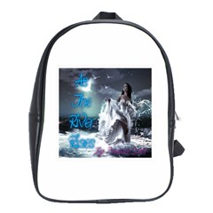 As The River Rises  School Bag (Large)