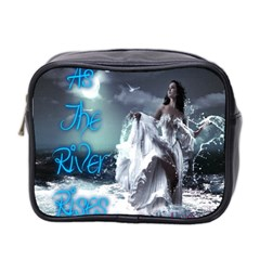 As The River Rises  Mini Travel Toiletry Bag (Two Sides)