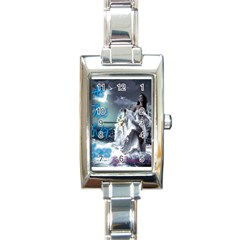 As The River Rises  Rectangular Italian Charm Watch