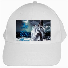 As The River Rises  White Baseball Cap