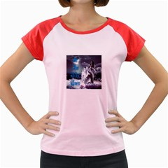 As The River Rises  Women s Cap Sleeve T-Shirt (Colored)