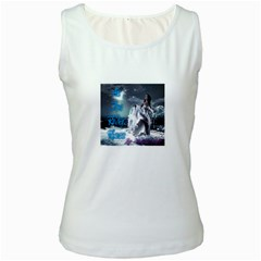 As The River Rises  Womens  Tank Top (White)