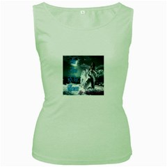 As The River Rises  Womens  Tank Top (Green)