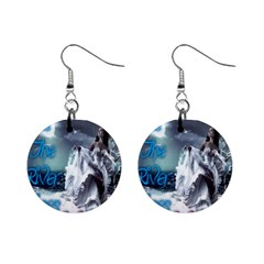 As The River Rises  Mini Button Earrings