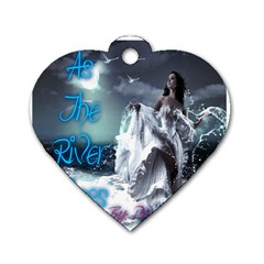 As The River Rises  Dog Tag Heart (two Sided)