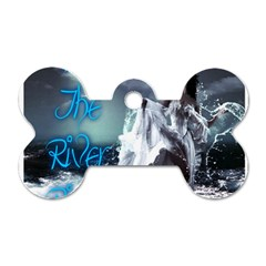 As The River Rises  Dog Tag Bone (two Sided)