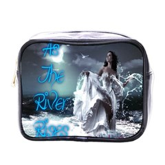As The River Rises  Mini Travel Toiletry Bag (one Side)