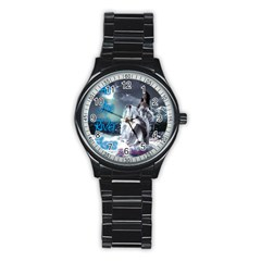 As The River Rises  Sport Metal Watch (black)