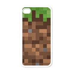Minecraft Grass product Apple iPhone 4 Case (White)