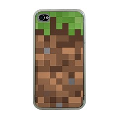 Minecraft Grass product Apple iPhone 4 Case (Clear)