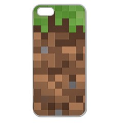 Minecraft Grass product Apple Seamless iPhone 5 Case (Clear)