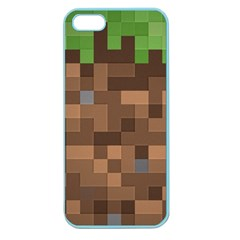 Minecraft Grass Product Apple Seamless Iphone 5 Case (color)