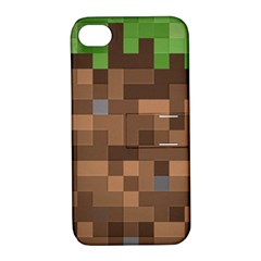Minecraft Grass product Apple iPhone 4/4S Hardshell Case with Stand