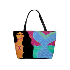 Painted Mermaid Large Handbag