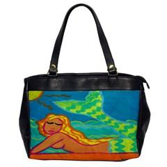 Mermaid On The Beach Leather Like Handbag