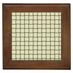 Cream Weave Framed Ceramic Tile