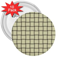 Cream Weave 3  Button (10 pack)