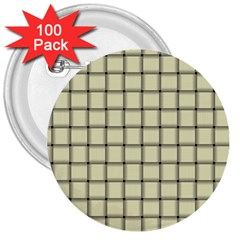 Cream Weave 3  Button (100 Pack)