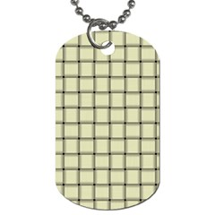 Cream Weave Dog Tag (One Sided)