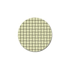 Cream Weave Golf Ball Marker