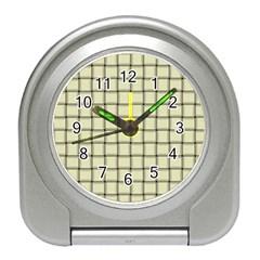 Cream Weave Desk Alarm Clock
