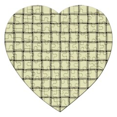 Cream Weave Jigsaw Puzzle (Heart)