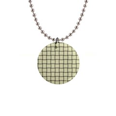 Cream Weave Button Necklace