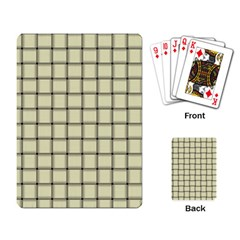 Cream Weave Playing Cards Single Design