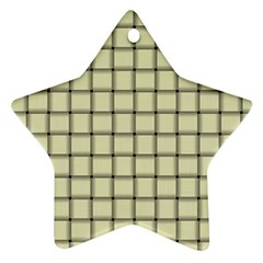 Cream Weave Star Ornament (two Sides)