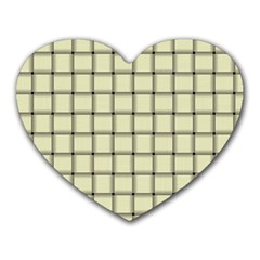 Cream Weave Mouse Pad (Heart)