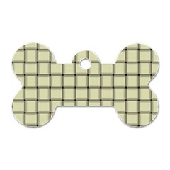 Cream Weave Dog Tag Bone (Two Sided)