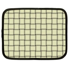 Cream Weave Netbook Case (Large)