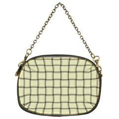 Cream Weave Chain Purse (Two Side)