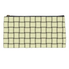 Cream Weave Pencil Case