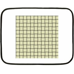 Cream Weave Mini Fleece Blanket (two Sided)