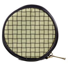 Cream Weave Mini Makeup Case